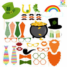 aliexpress com buy set of 37 irish st patrick u0027s day photo booth