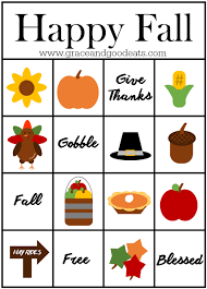 fall bingo cards free printable grace and eats