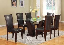 Espresso Dining Room Furniture Enclave Espresso Table 4 Chairs 22100 22135 Mainline Inc Casual