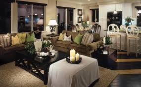 rustic dining rooms living room deluxe rustic dining room and living room in open