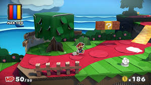 Paper Mario World Map by Paper Mario Color Splash Review Gamespot