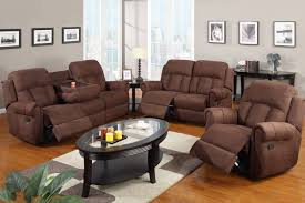 Loveseat Recliners Amazon Com Poundex F7048 F7049 F7050 Chocolate Microfiber Fabric