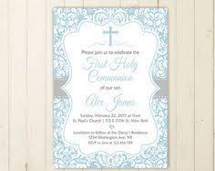 communion invitations boy modern kraft holy communion invitation communion