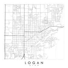 Logan Utah Map by Logan Utah City Lines Map Print U2014 Turn Of The Centuries