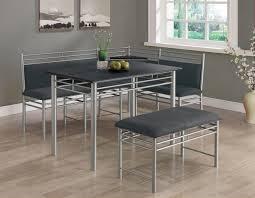 monarch black with silver metal corner 3pcs dining set i 3096