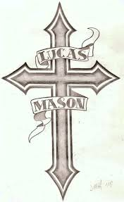 easy tattoos to draw free designs simple and small cross