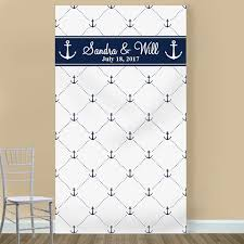 wedding backdrop themes anchor personalized photo booth backdrop theme wedding