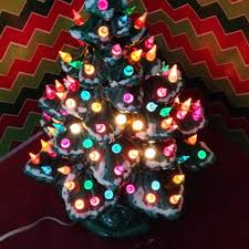 christmas ceramic lighted christmas tree fishwolfeboro