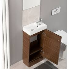 2 Basin Vanity Units Cali 400 Cube Vanity Unit Chi002 390mm Floor Mounted Walnut