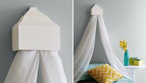 Faux Canopy Bed Drape The Lovely Side Do It Yourself Bed Canopies