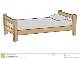 simple bed stock photography image 35595312