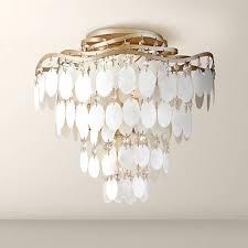 capiz flush mount light dolce capiz shell 16 wide semiflush ceiling light k8497 ls plus