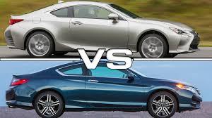 youtube lexus vs bmw 2016 lexus rc 300 awd coupe vs 2016 honda accord lx s coupe youtube