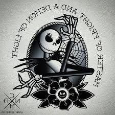 matching jack skellington tattoo design tattoos pinterest