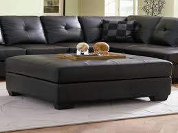 Big Coffee Tables by Oversized Leather Ottoman Coffee Table Pertaining To Found