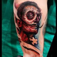 fantasy mexican skull salvador dali tattoo by logan aguilar