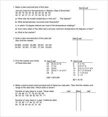 sample statistics worksheet 14 documents in pdf word