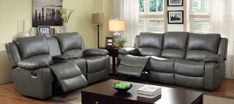 Reclining Sofa Loveseat Sets 2 Pc Furniture Of America Sarles Collection Gray Reclining Sofa