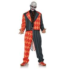 Halloween Costumes Jester Thriller Mens Scary Orange Black Clown Jester Tuxedo Halloween