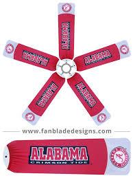 alabama ceiling fan blades university of alabama crimson tide fan blade designs