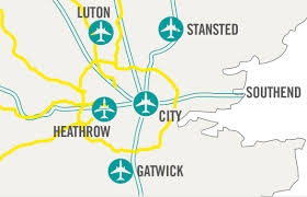 Map Of International Airports Airports In London A London Tube Map Can Save One A Major
