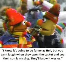Bert And Ernie Meme - bert and ernie go to a funeral by lappy meme center