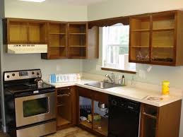 Antique Kitchen Furniture by Classy Brown Color Wooden Kitchen Cabinets Featuring Wall Mounted