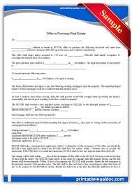Real Estate Free Templates by Free Printable Offer To Purchase Real Estate Legal Forms Free