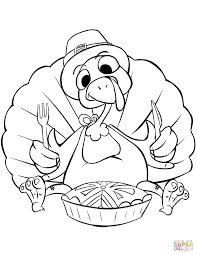 turkey dinner coloring funycoloring