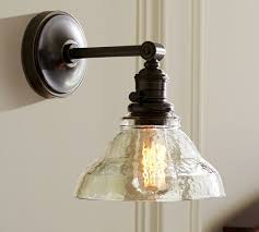 pottery barn lighting sconces pb classic sconce vintage glass pottery barn
