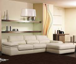 Shelf Floor L Living Room Cozy Living Room Design With L Shaped White Sofa Also
