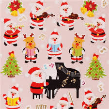 christmas stickers christmas orchestra stickers with gold metallic from