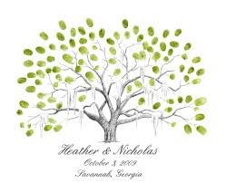 wedding tree live oak thumbprint tree wedding guestbook alternative
