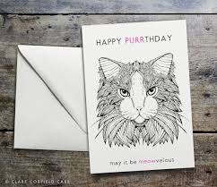 Cat Birthday Cards Best 25 Cat Birthday Cards Ideas On Pinterest Owl Punch Cards