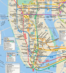 Bus Map Nyc Nyc Subway Manhattan Subway Map Public Transport And Nyc Subway