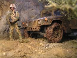 civilian humvee desert patrol diorama