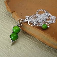 two peas in a pod jewelry pea pod pendant with two green pearls