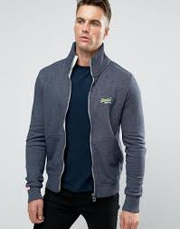 superdry sweatshirt with surfing print pearl grey grindle men