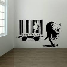 Large Wall Stickers Uk Banksy Wall Sticker Lion Barcode Escape New Art Uk Transfer Decal