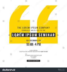 Invitation Card Format For Seminar Business Seminar Invitation Design Template With Stock Vector