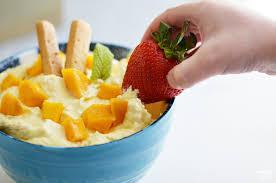mango fruit dip served two ways finding zest