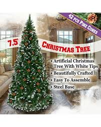 amazing deal on benefitusa green snow tipped tree with