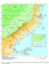 Map Of North Carolina Coast Atlantic Coastal Plain Physiographic Provinces