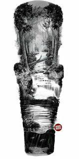 Tattoos Designs - river sleeve design idei de încercat sleeve