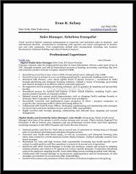 Resume Examples For Sales Manager Resume Template Best Account Manager Example Livecareer With 87