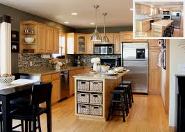 Modular Kitchen Wall Cabinets Best Kitchen Beige Wall Themes And Brown Wooden Oak Cabinet Image