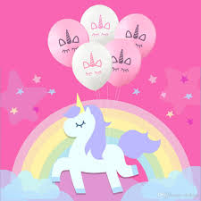 birthday balloons in a box new fashion unicorn balloons happy birthday party decorations kids