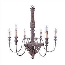 Wooden Chandelier Lighting Farmhouse Style Wood Chandelier Vintage American Home