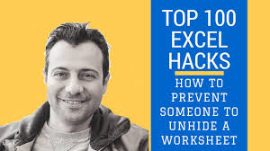 how to prevent someone to unhide a worksheet with excel vba u2013 very