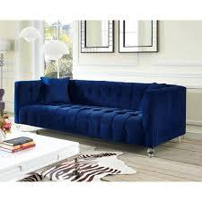 red velvet tufted sofa red tufted velvet sofa blue velvet couch